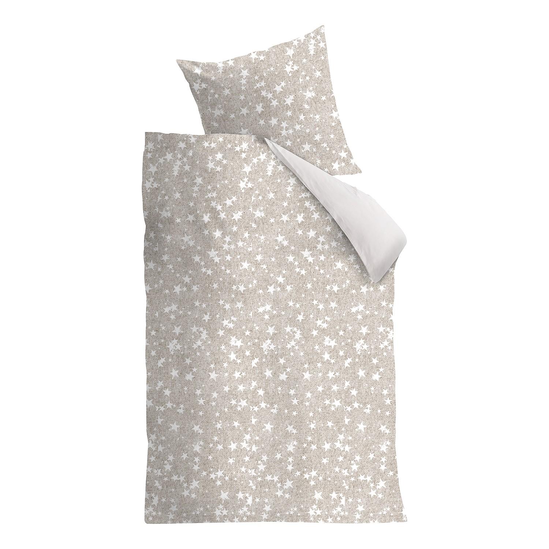 Beddengoed Counting Stars - katoen - saharakleurig/wit - 135x200cm + kussen 80x80cm, Beddinghouse