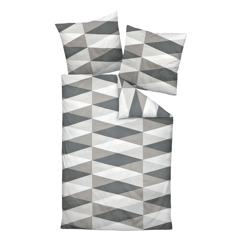 mako satin bettw sche elgin baumwollstoff grau hellgrau 135 x. Black Bedroom Furniture Sets. Home Design Ideas