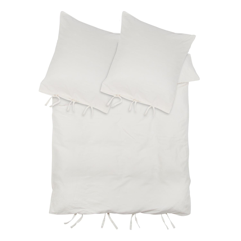 Bettwäsche Lizonne - Beige - 200 x 200 cm + 2 Kissen 80 x 80 cm