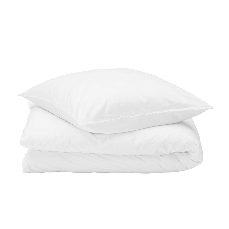 Bettwäsche Nuvola - Baumwollstoff - Weiß - 155 x 220 cm + Kissen 80 x 80 cm