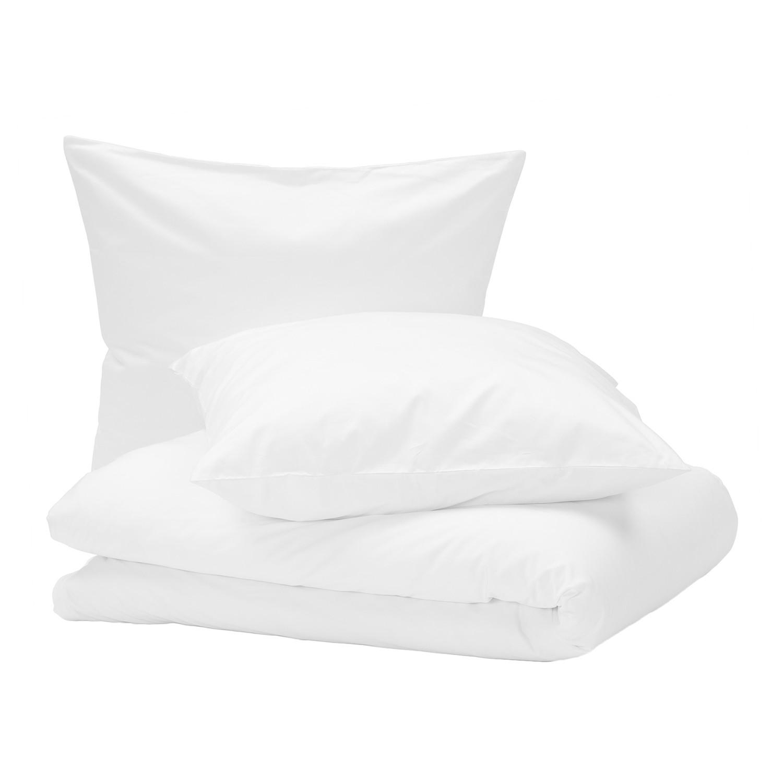 Bettwäsche Nuvola - Baumwollstoff - Weiß - 200 x 200 cm + 2 Kissen 80 x 80 cm