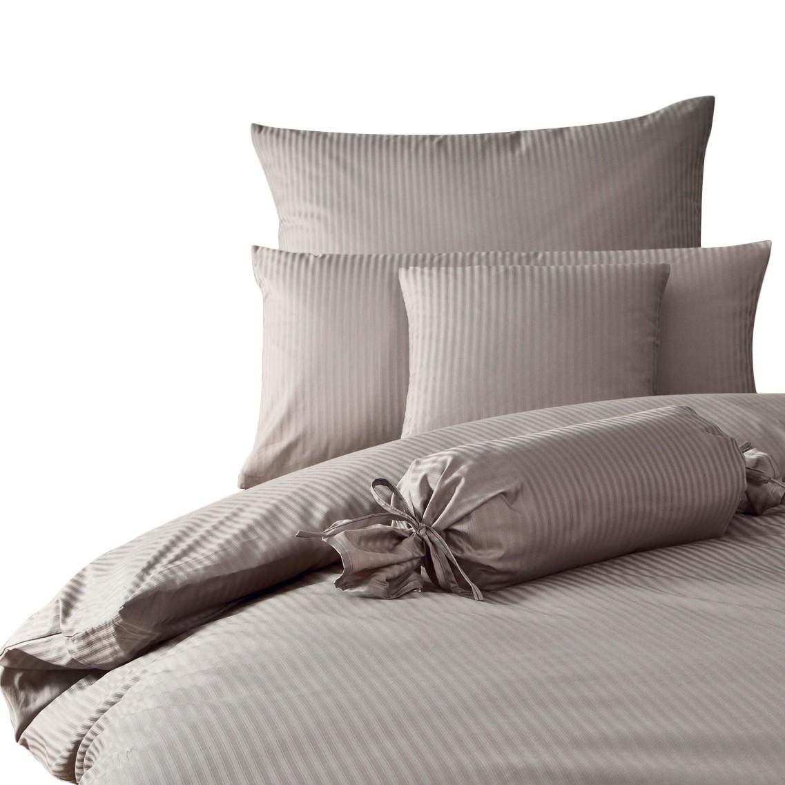 rubin streifen taubengrau 200 x 220 cm kissen 80 x 80 cm janine. Black Bedroom Furniture Sets. Home Design Ideas