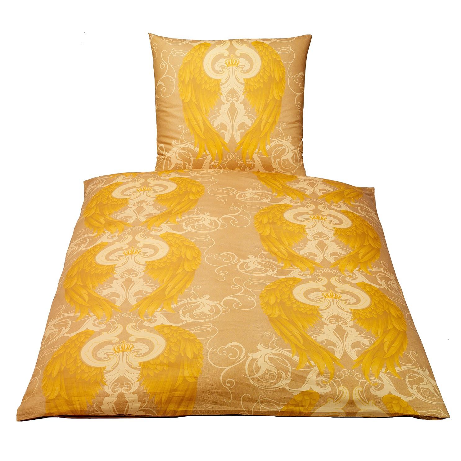 satin bettw sche gold preisvergleiche. Black Bedroom Furniture Sets. Home Design Ideas