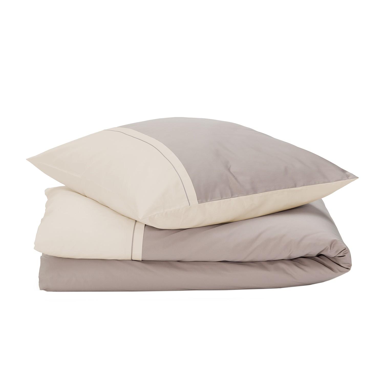 bettw sche sogno baumwollstoff beige taupe 135 x 200 cm kissen 80 x 80 cm jetzt kaufen. Black Bedroom Furniture Sets. Home Design Ideas
