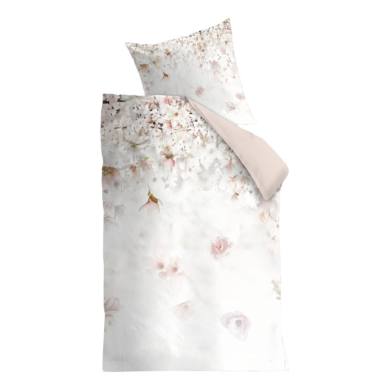 Beddengoed Spring Blossom - katoen - beige/roze - 135x200cm + kussen 80x80cm, Maison Belfort