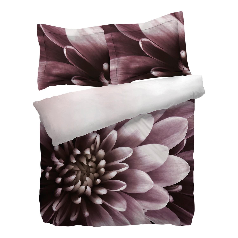 rabatt wendebettw sche talia baumwollstoff lila wei 155 x 220 cm. Black Bedroom Furniture Sets. Home Design Ideas