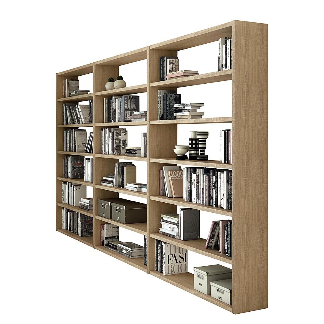 Bibliothèque Empire - Imitation chêne de Sonoma, Fredriks
