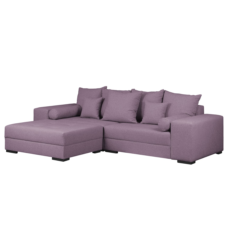Grand canap aaron i tissu avec repose pieds lila maison belfort meubles e - Canape avec repose pied integre ...