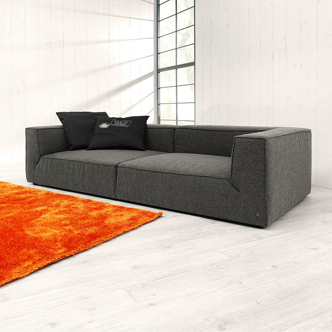 Couch anthrazit interesting couch anthrazit with couch for Sofa ohne kissen