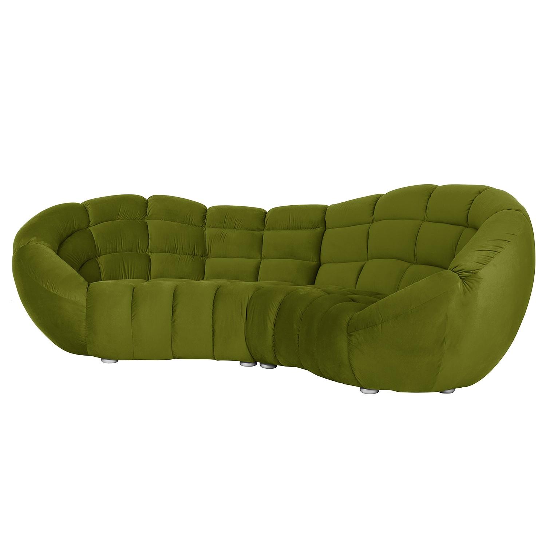 Grand canapé Blair - Microfibre - Vert, Jack and Alice