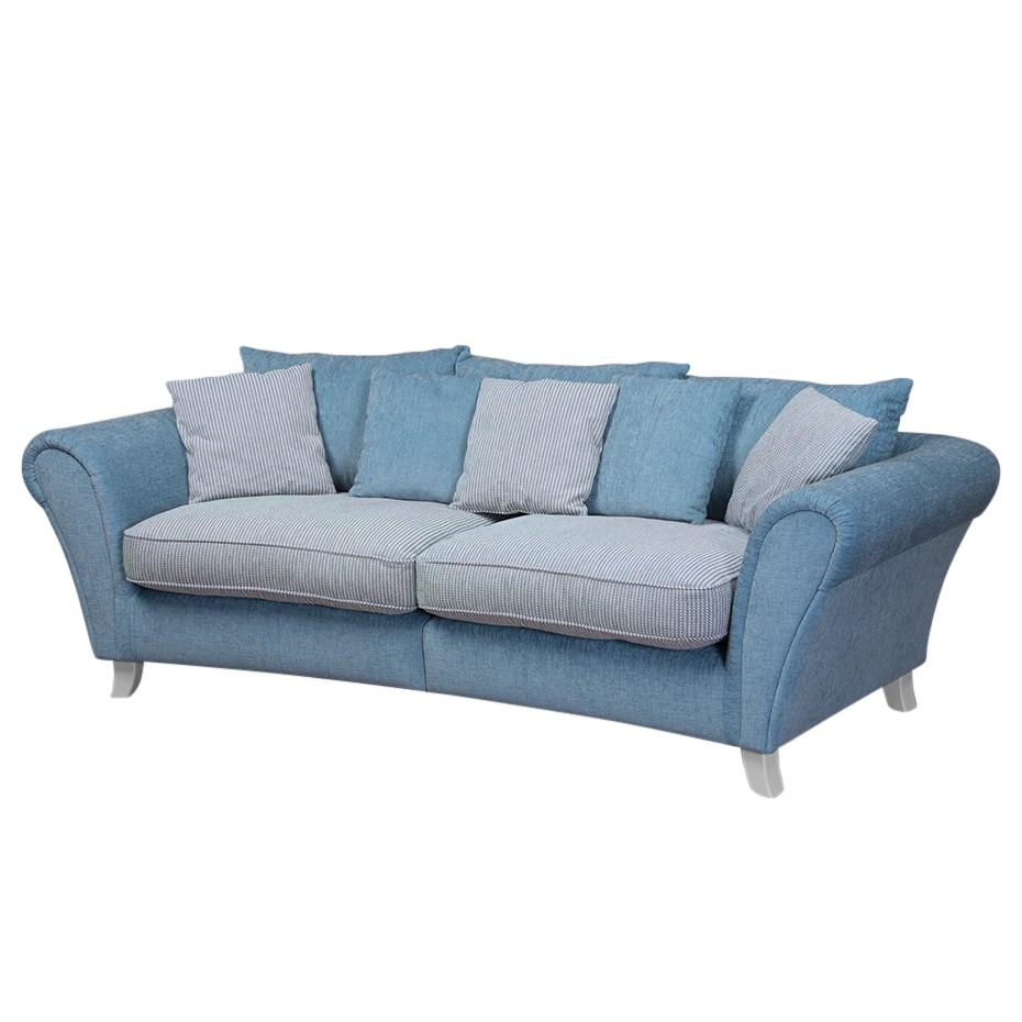 Bigsofa Hawley - Webstoff - Blau / Weiß, Nuovoform