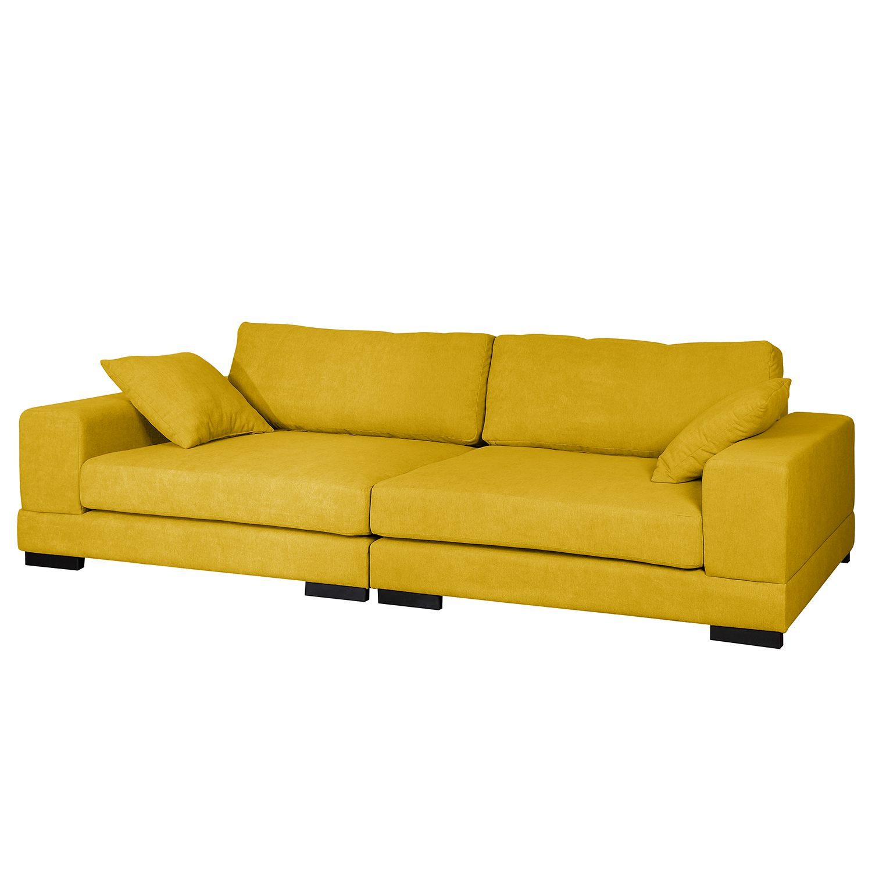 Grand canapé Mandor Microfibre - Jaune moutarde, Fredriks