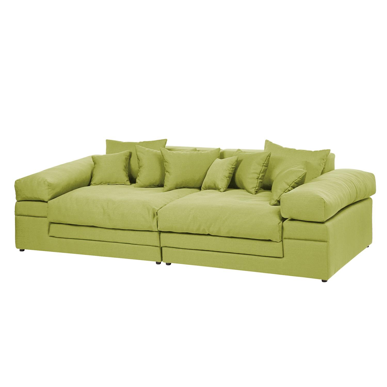 Grand canapé Nelson - Tissu - Vert clair, loftscape