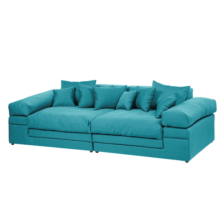 Grand canapé Nelson - Tissu - Turquoise, loftscape