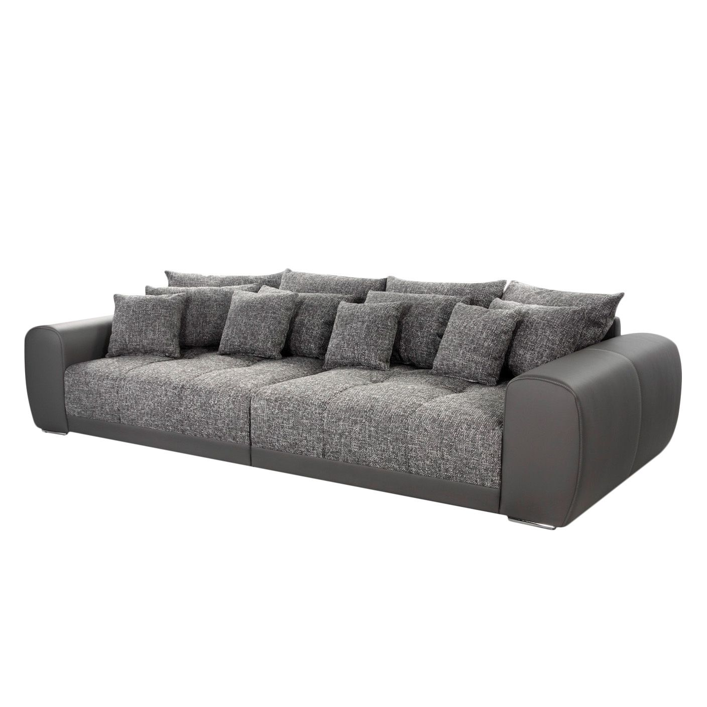 Grand canapé Pesaro - Gris / Gris clair, loftscape