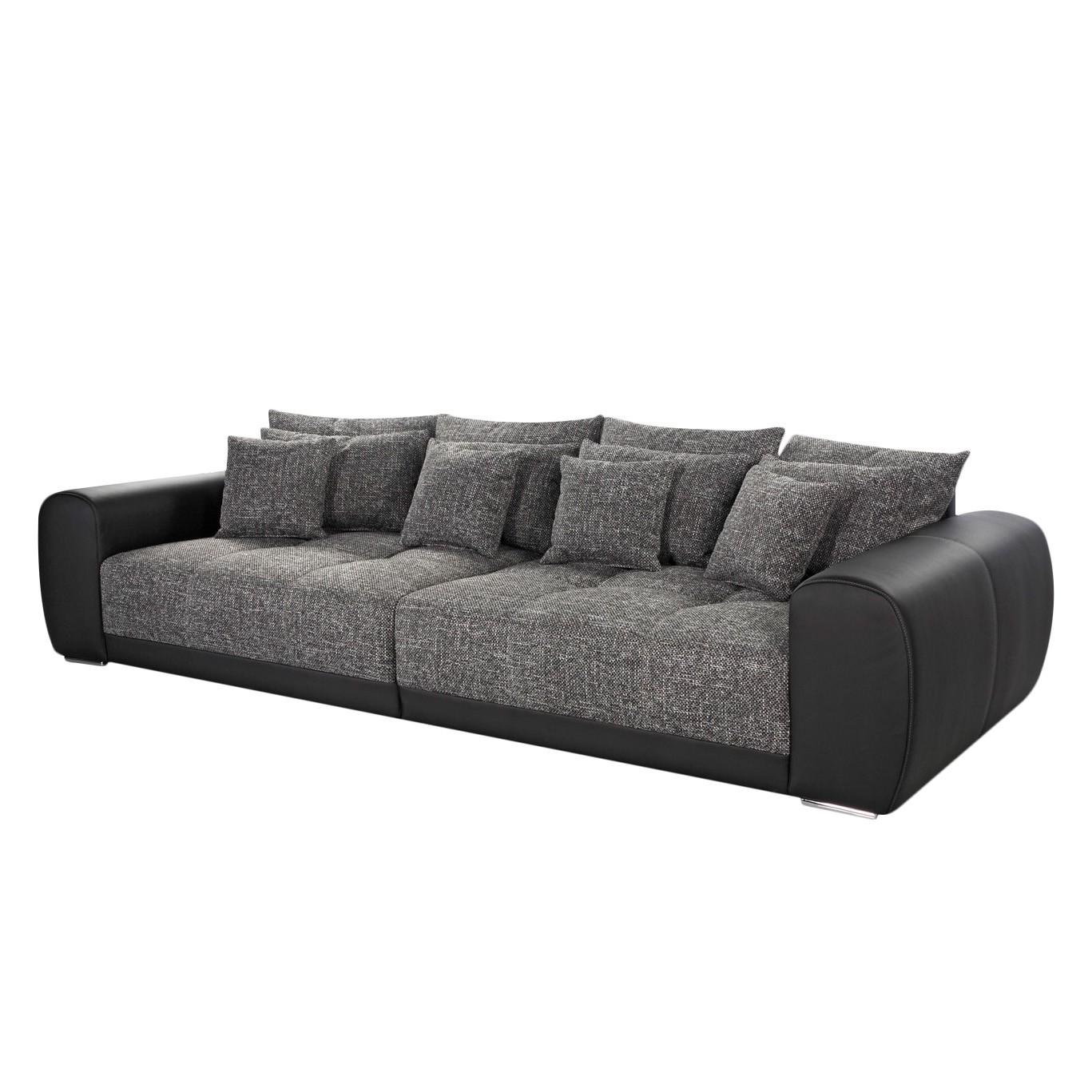 Grand canapé Pesaro - Noir / Gris, loftscape