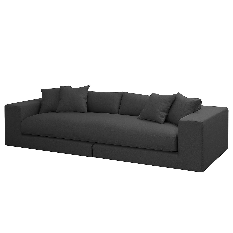 Grand canapé Winwick - Tissu - Anthracite, loftscape
