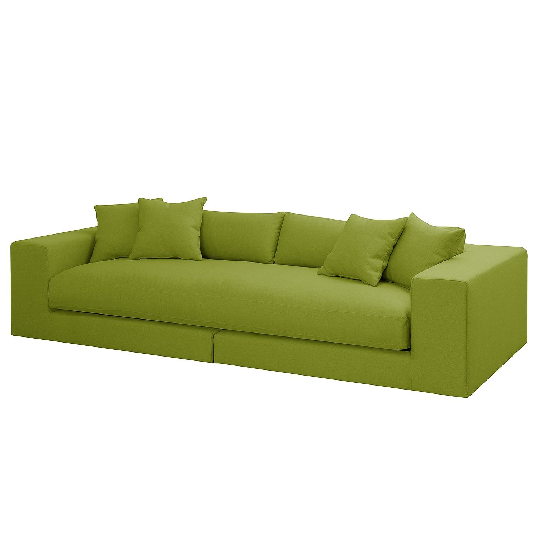 Grand canapé Winwick - Tissu - Vert herbe, loftscape