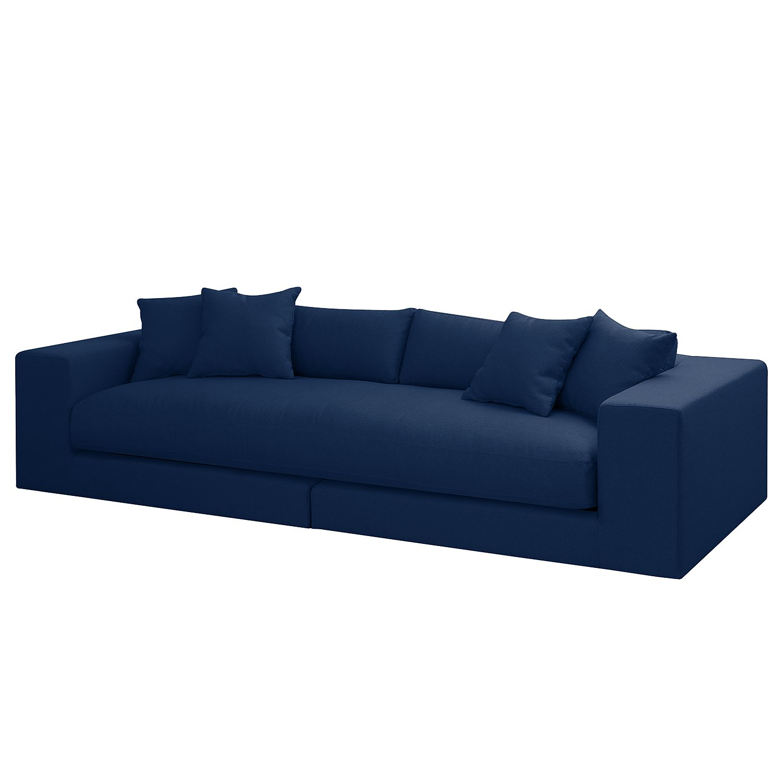 Grand canapé Winwick - Tissu - Bleu marine, loftscape
