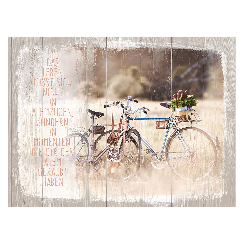 Afbeelding Blue & Red Bicycle - beige/bruin, Pro Art