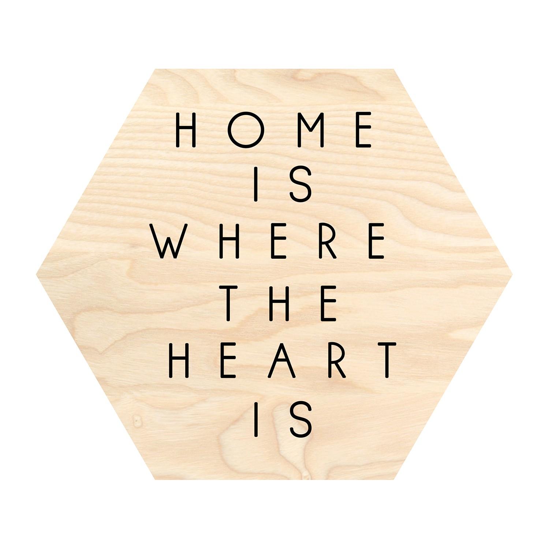Afbeelding Home Is Where - beige/zwart, Pro Art