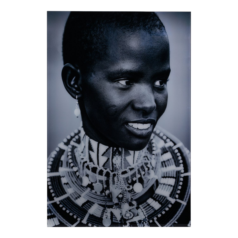 Foto Massai Mara II - kunststof - zwart/wit, ars manufacti