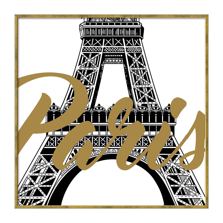 Afbeelding Paris - wit/goudkleurig, Pro Art