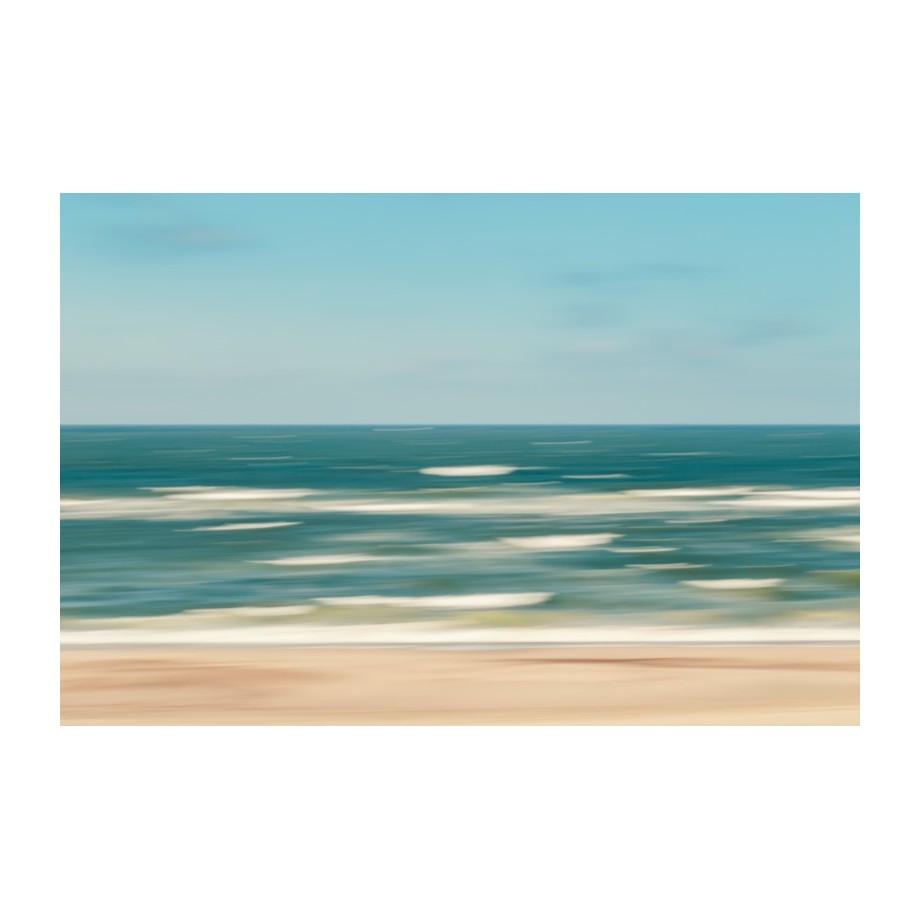 Afbeelding Stormy Sea - alu-plaat - Petrol/beige - 60, Maison Belfort