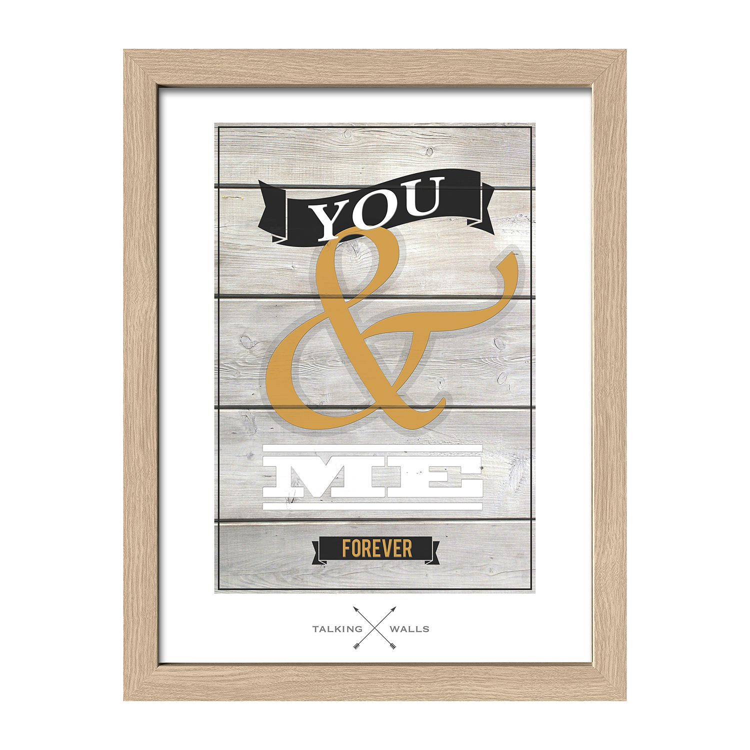 Afbeelding You & Me Forever - beige/wit, Pro Art