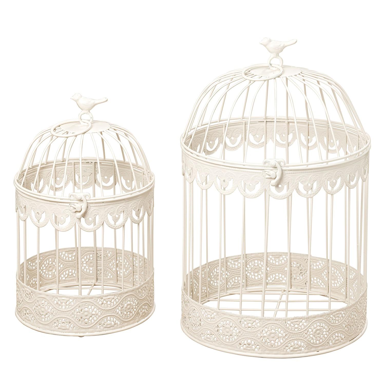 Home 24 - Cage frederique (lot de 2) - fer - blanc, maison belfort