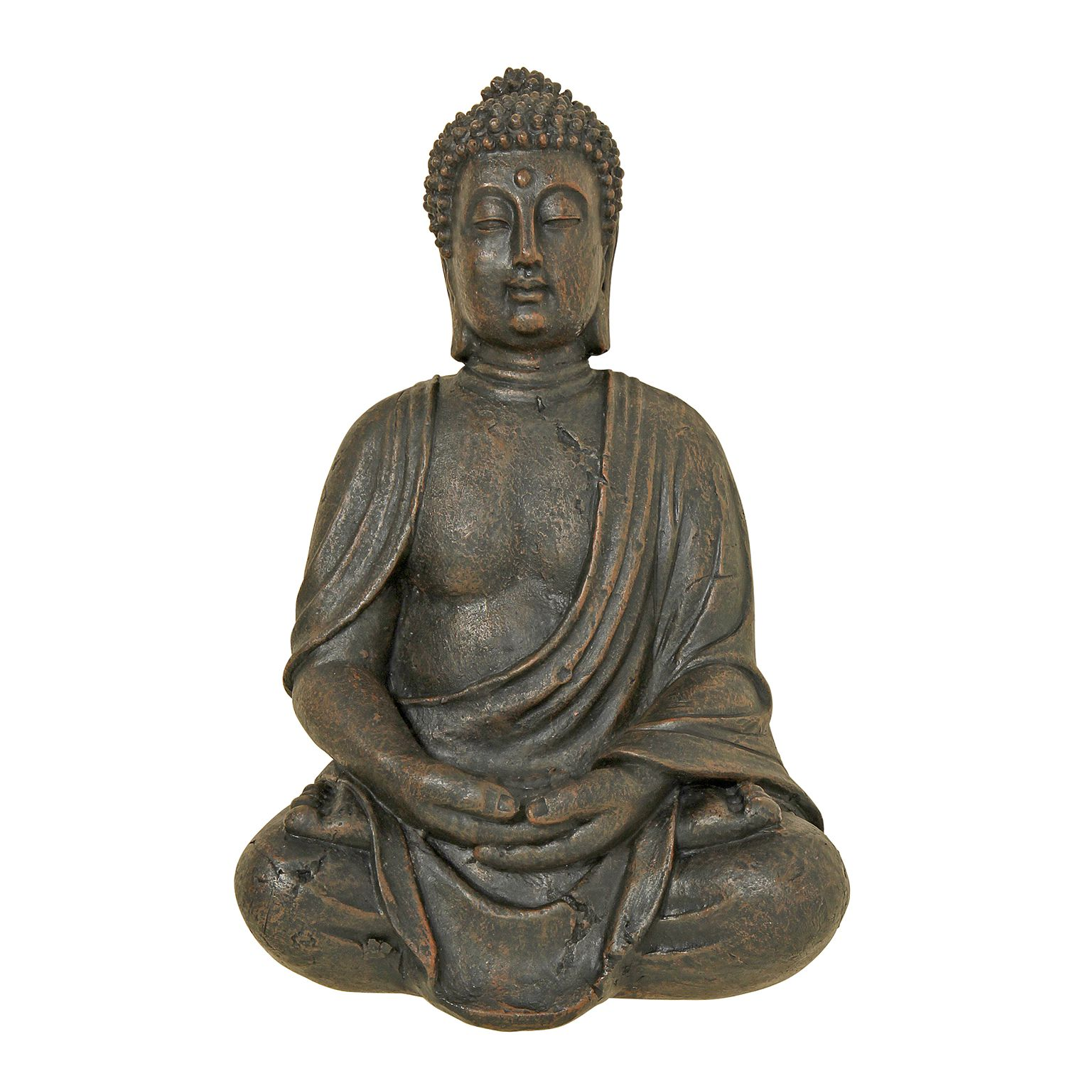 Home 24 - Statue bouddha - résine synthétique - marron, ars manufacti