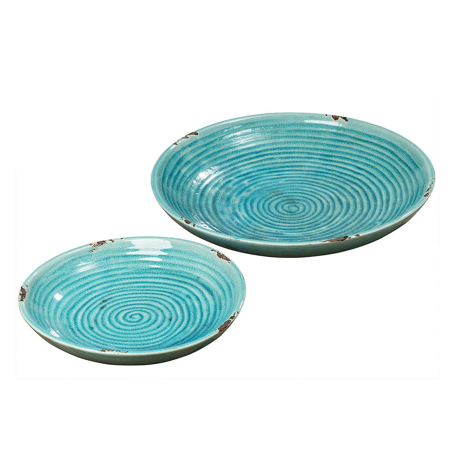 Schalen Fina (2-delige set) - terracotta - turquoise, Red Living