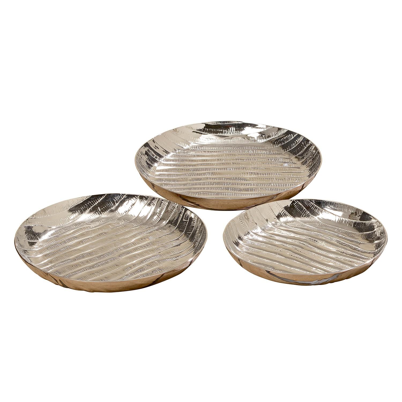 Borden Pebble (3-delig) - aluminium - zilverkleurig, Jack and Alice