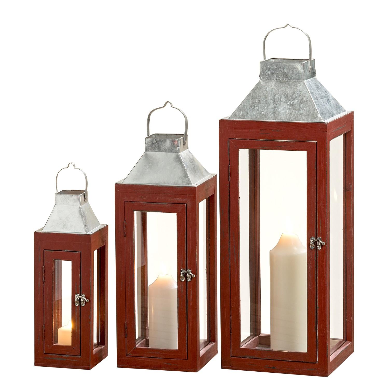 Home 24 - Lanterne lynn (lot de 3) - rouge, ars manufacti