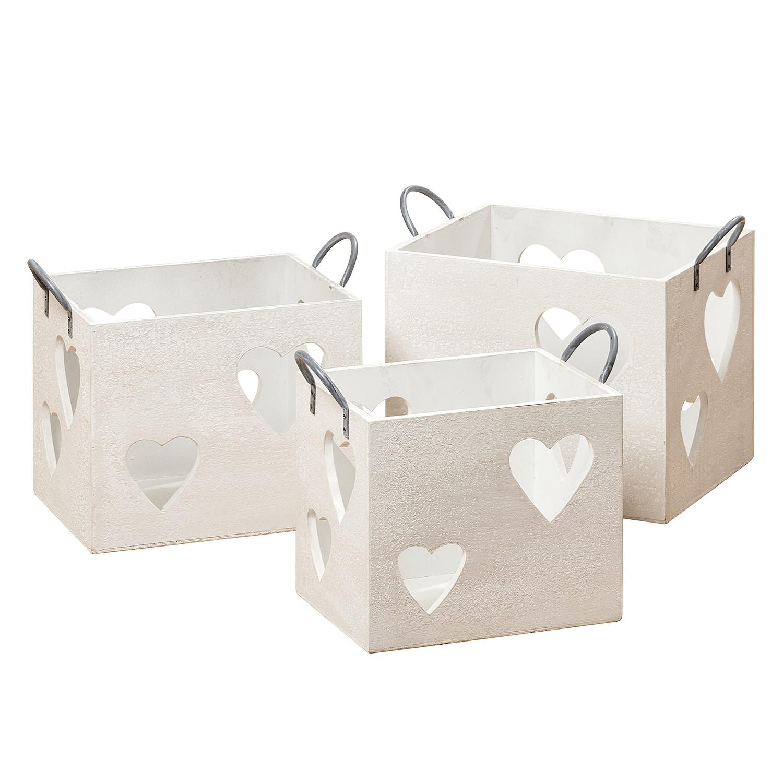 Home 24 - Photophore heart (lot de 3) - blanc, ars manufacti