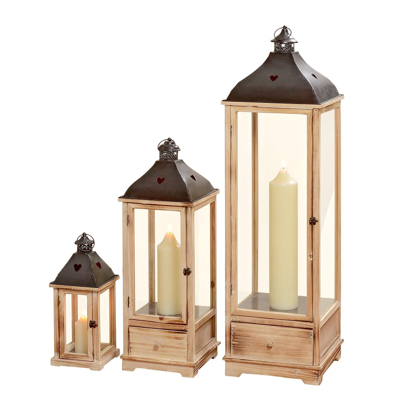 Home 24 - Lanterne bozen (lot de 3) - beige, ars manufacti