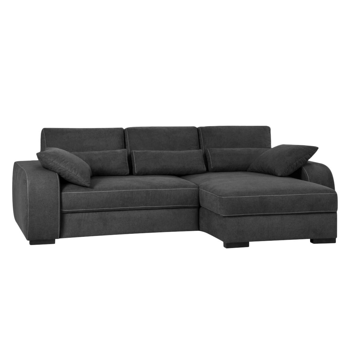 Banquette meridienne sofa capitonne canape coussin rond comparer les prix e - Canape capitonne gris ...