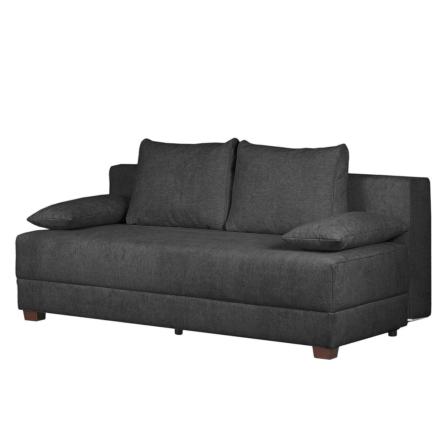Boxspring-Schlafsofa Dingo I Webstoff - Anthrazit, mooved bei Home24 - Möbel