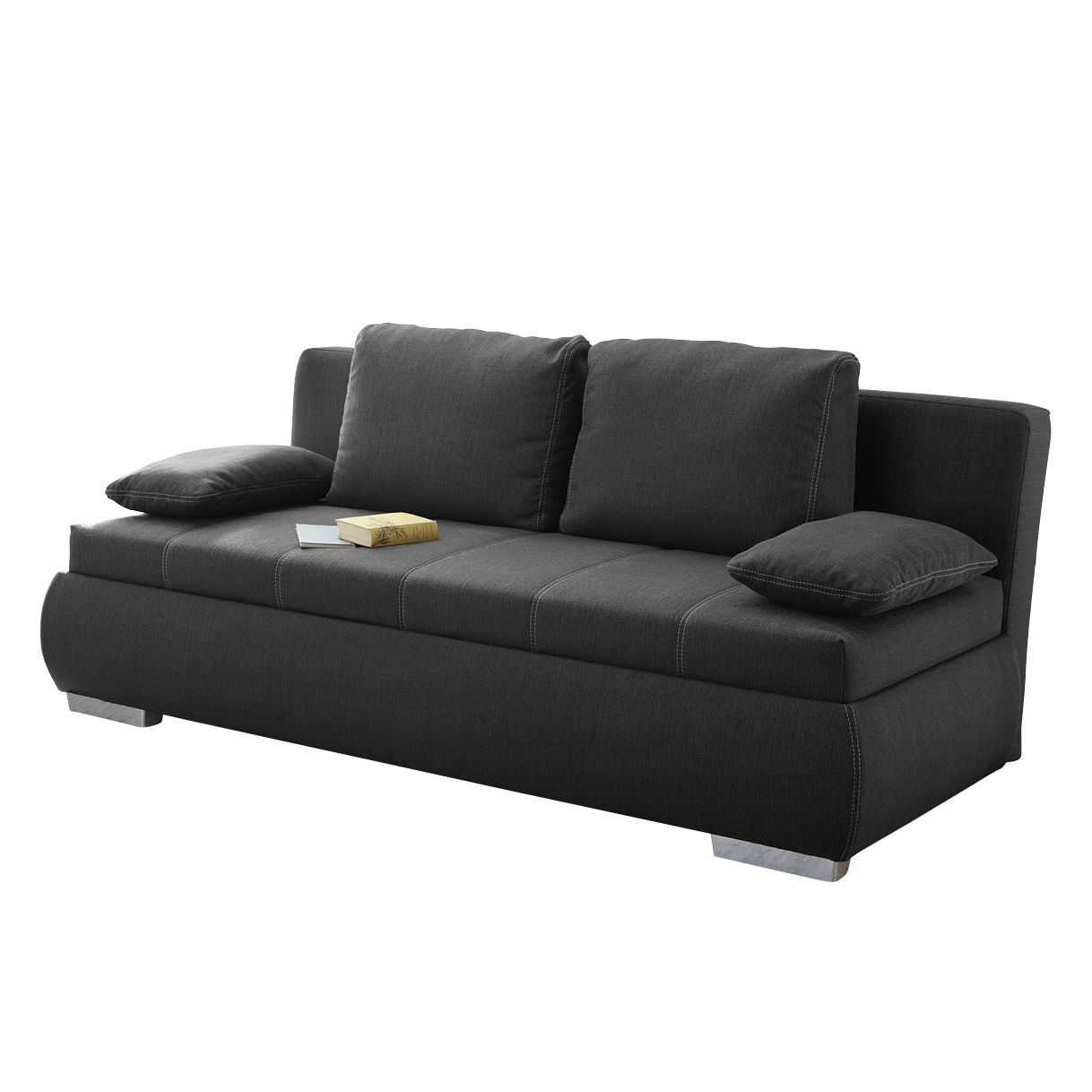 boxspring schlafsofa madang webstoff anthrazit fredriks g nstig online kaufen. Black Bedroom Furniture Sets. Home Design Ideas