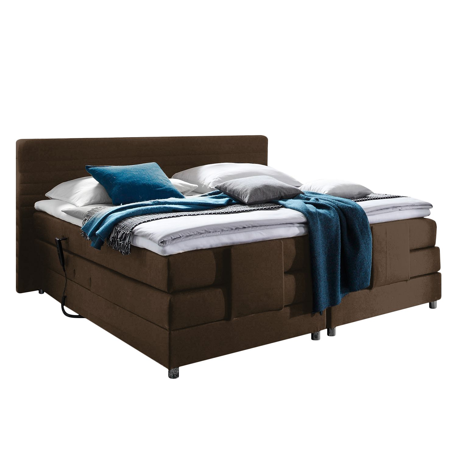 13 sparen boxspringbett belaja mit elektromotor ab 999 99 cherry m bel home24. Black Bedroom Furniture Sets. Home Design Ideas