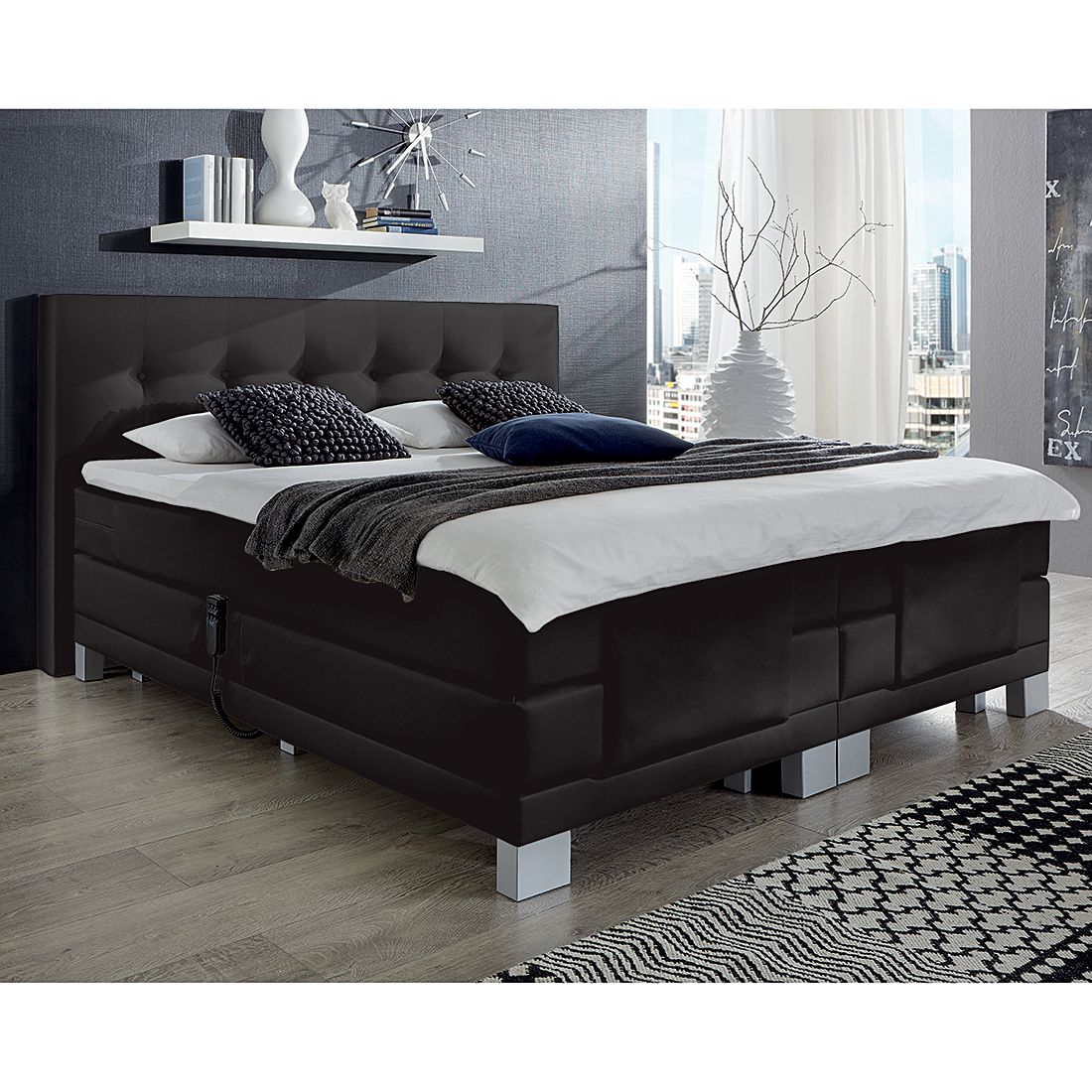 54 sparen boxspringbett diamond night nur cherry m bel home24. Black Bedroom Furniture Sets. Home Design Ideas