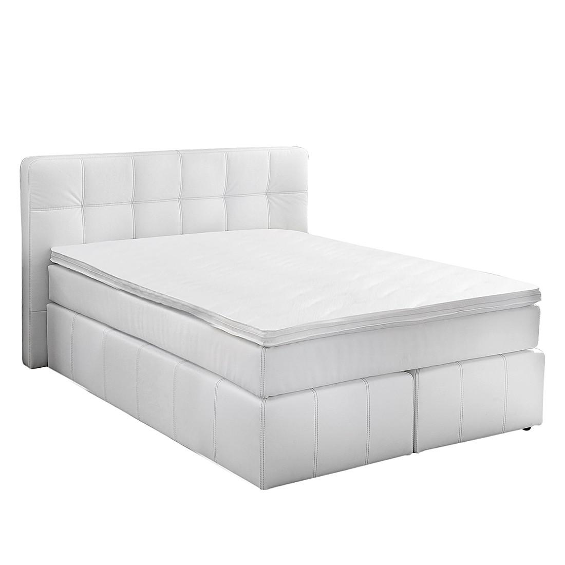betten leder weiss 140x200 preisvergleiche. Black Bedroom Furniture Sets. Home Design Ideas