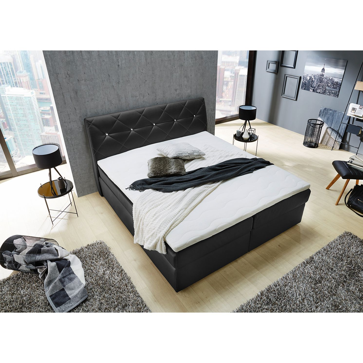 23 sparen boxspringbett laholm nur 999 99 cherry m bel home24. Black Bedroom Furniture Sets. Home Design Ideas
