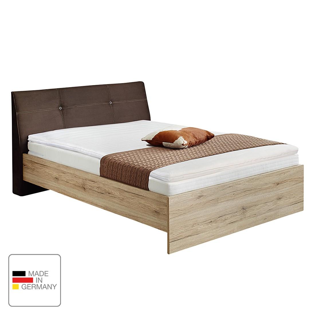 boxspringbett pitea eiche sanremo dekor microfaser braun mooved g nstig schnell einkaufen. Black Bedroom Furniture Sets. Home Design Ideas