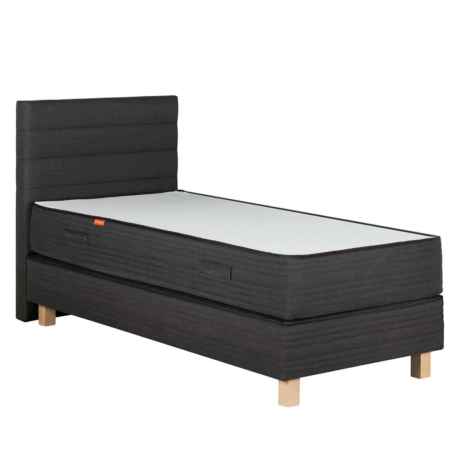 roller boxspringbett boris anthrazit weib preise und angebote ada premium. Black Bedroom Furniture Sets. Home Design Ideas