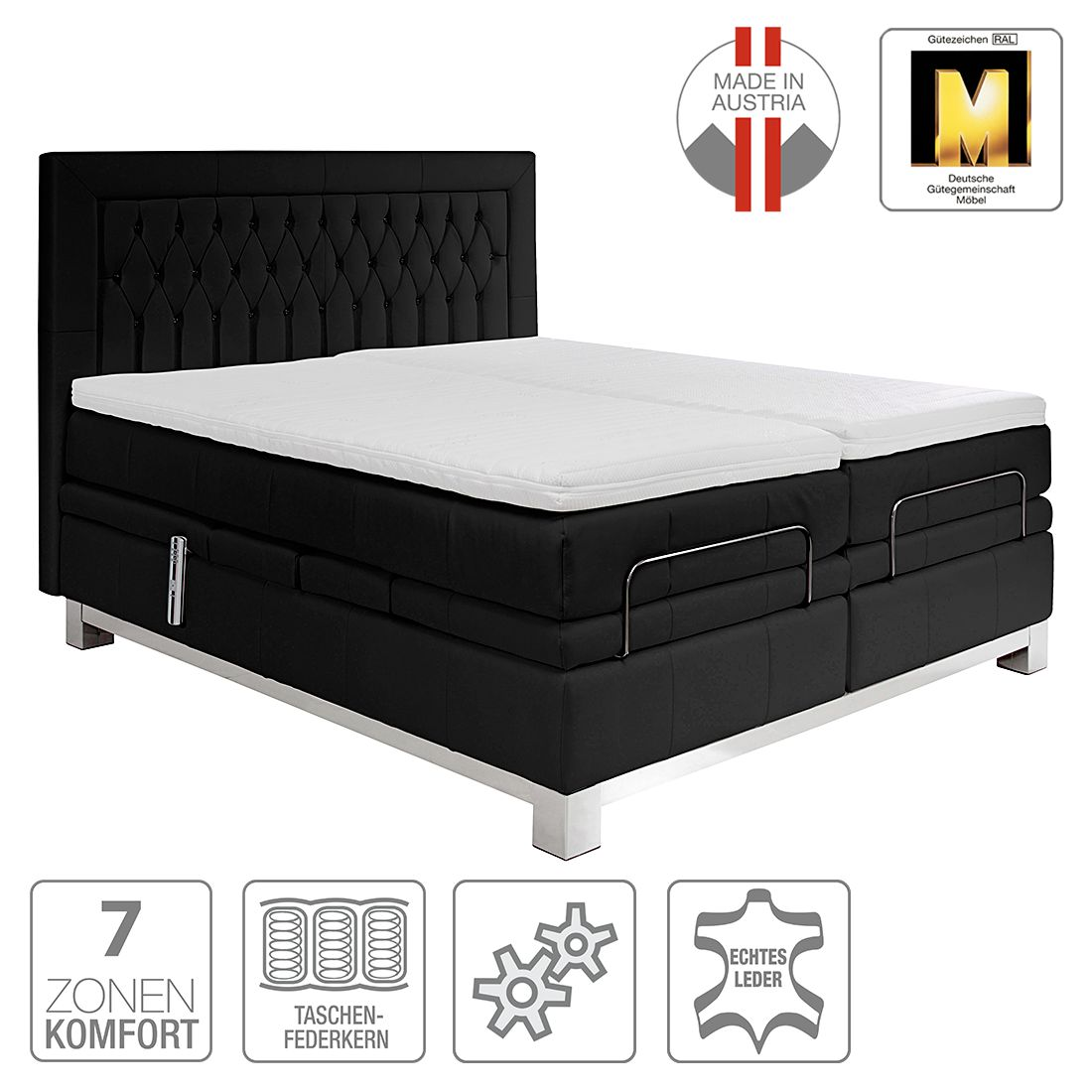 boxspring kopen online internetwinkel. Black Bedroom Furniture Sets. Home Design Ideas