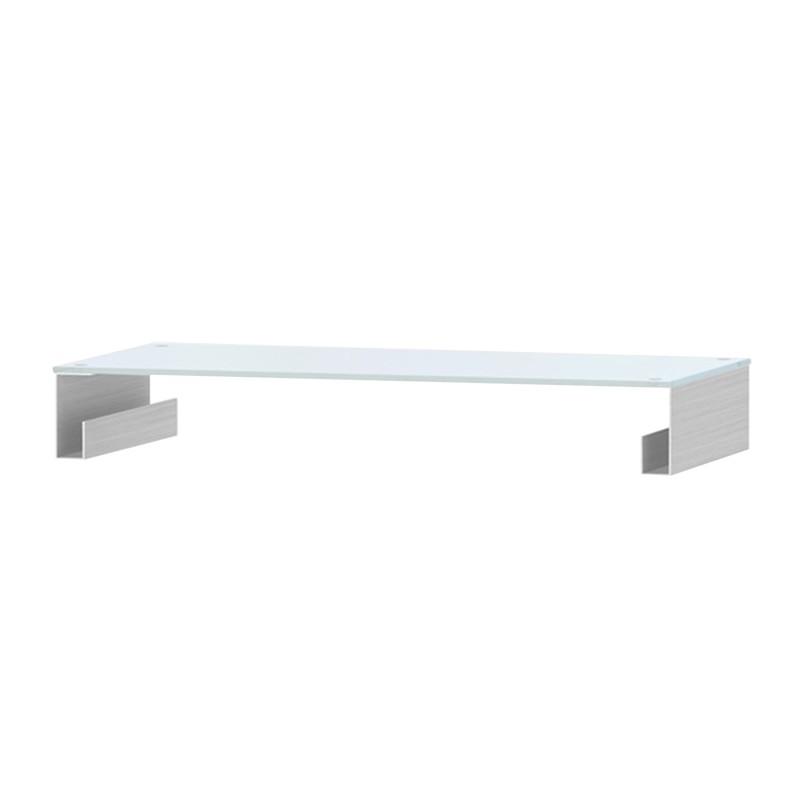 Home 24 - Support tv z- fga - verre blanc - 80 cm, jahnke