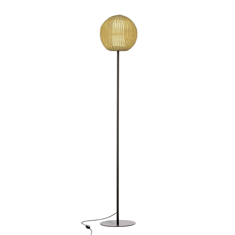EEK A++, Lampadaire d'extérieur Arley - Matière synthétique / Fer - 1 ampoule - Champagne, Brilliant