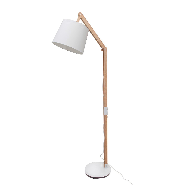 EEK A++, Lampadaire Carlyn - Coton / Pin massif - 1 ampoule, Brilliant