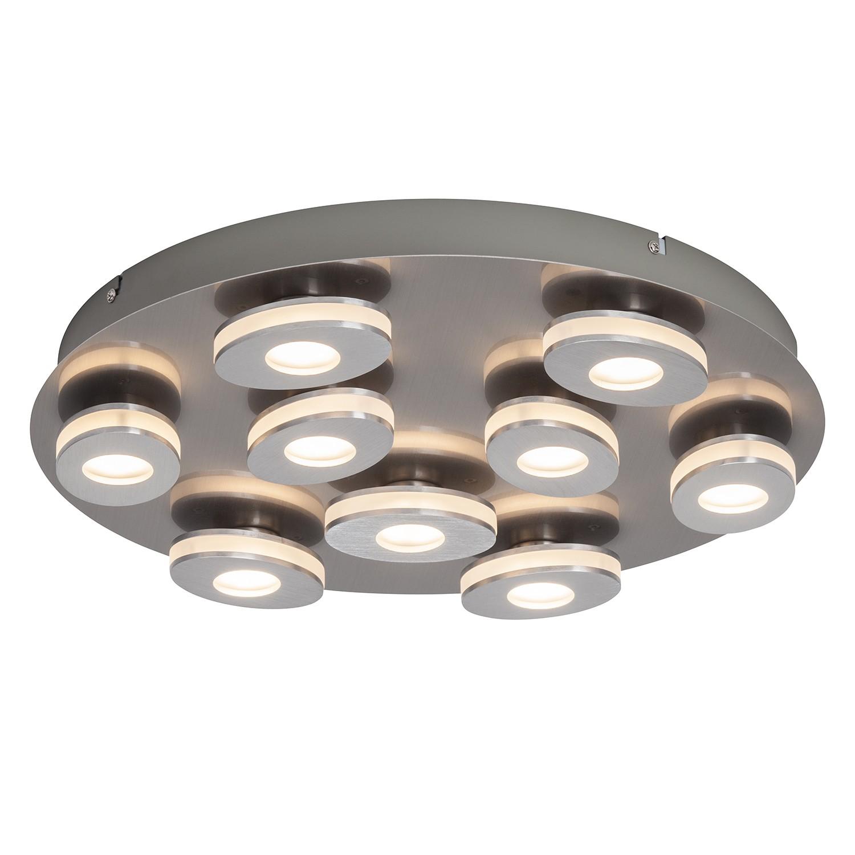 EEK A+, LED-Deckenleuchte Crossing II - Kunststoff / Aluminium - 9-flammig, Brilliant